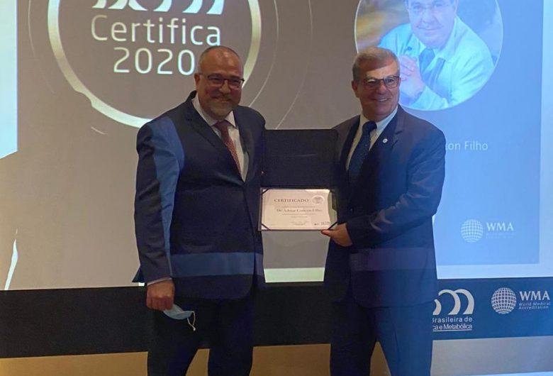Dr. Admar Concon Filho recebe Certificação em Cirurgia Bariátrica e Metabólica, pela SBCBM
